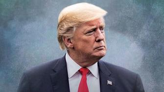 """This image taken from the Twitter account of President Donald J. Trump @realDonaldTrump, shows what looks like a movie-style poster that takes creative inspiration from the TV series """"Game of Thrones"""" to announce the re-imposition of sanctions against Iran.  Trump tweeted a photo of himself with the words """"Sanctions are Coming"""" Nov. 5. The U.S. sanctions on Iran had been lifted under a 2015 nuclear pact, but they are taking effect on Monday.  (Donald J. Trump Twitter account via AP)"""