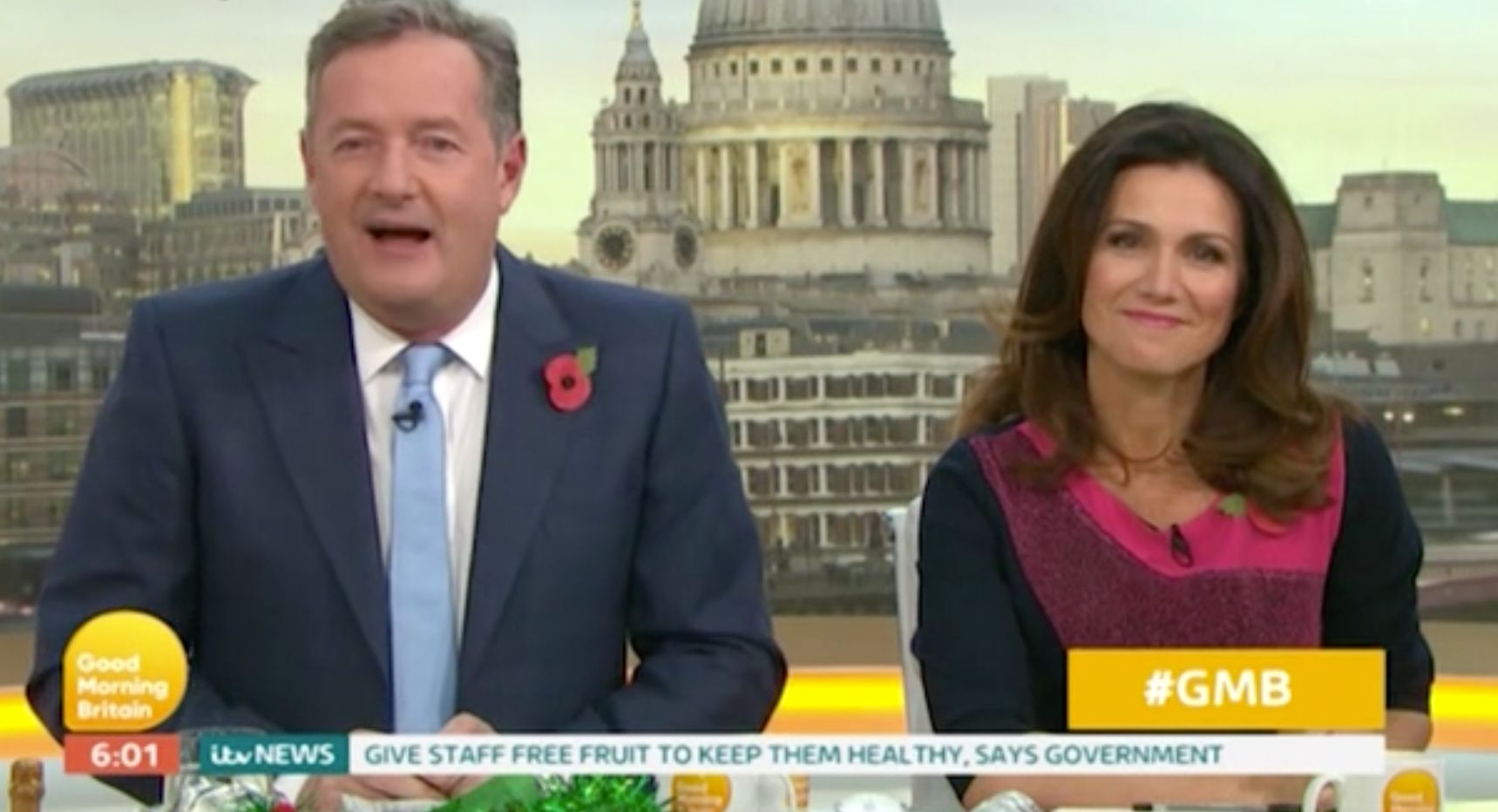 Piers Morgan Teases 'GMB' Co-Host Susanna Reid After She Goes Public With Steve Parish