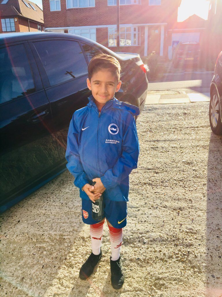 This 8-Year-Old Footballer Went Blind Last Year, Now He's Training With