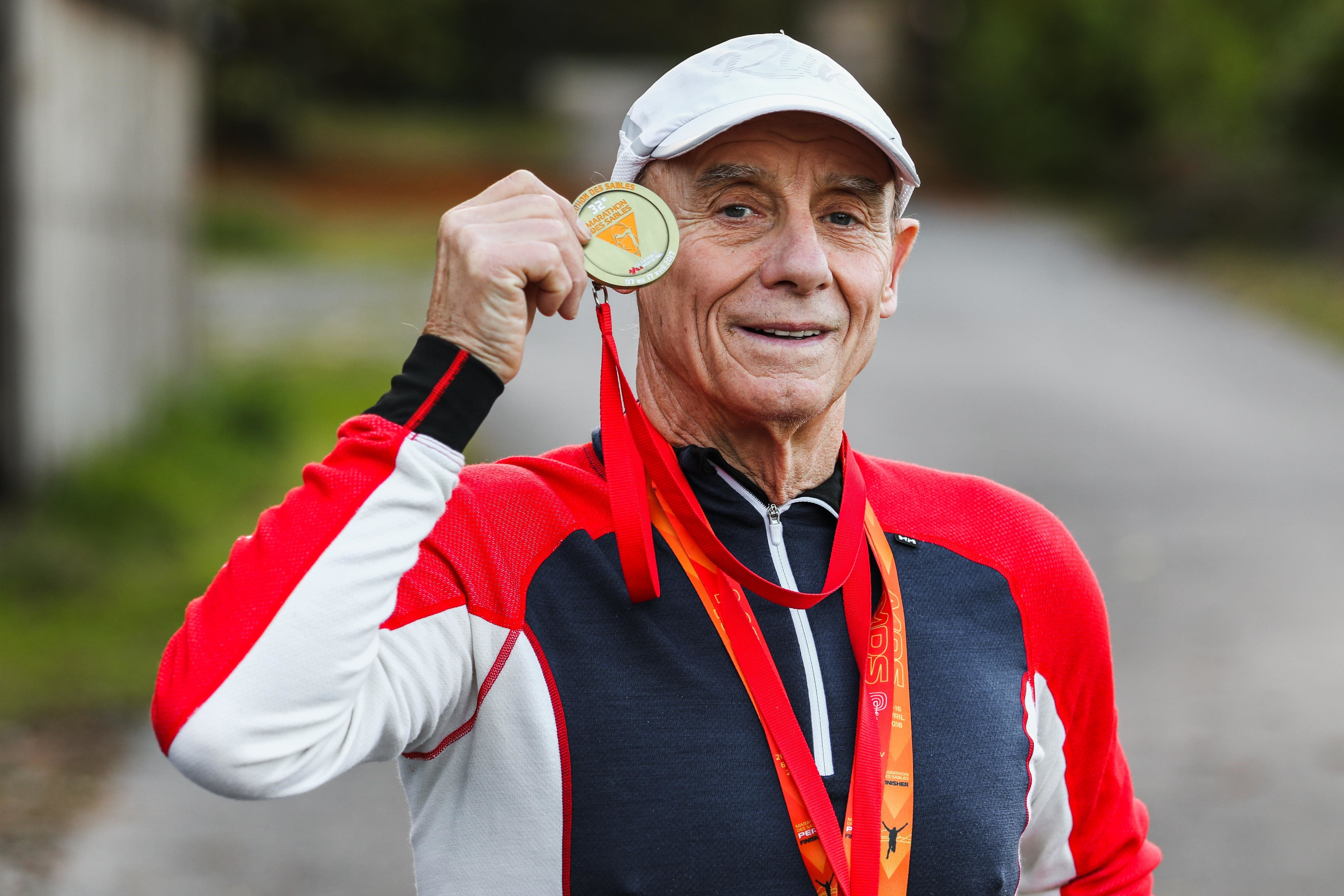 Grandad Who's Run 23 Ultra-Marathons Says Secret Is A Daily Cup Of Hot Chocolate And Wine