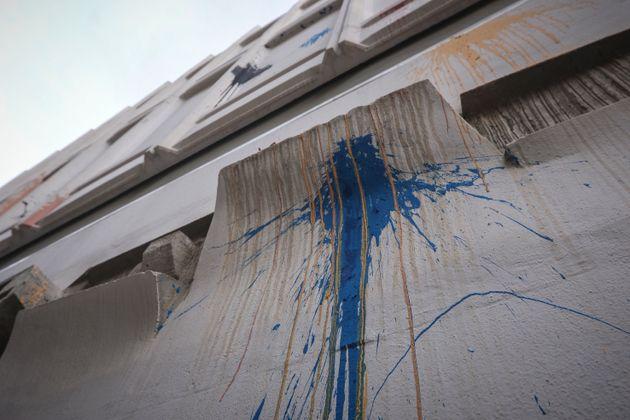 Νέα επίθεση με μπογιές στο κτήριο του Γαλλικού