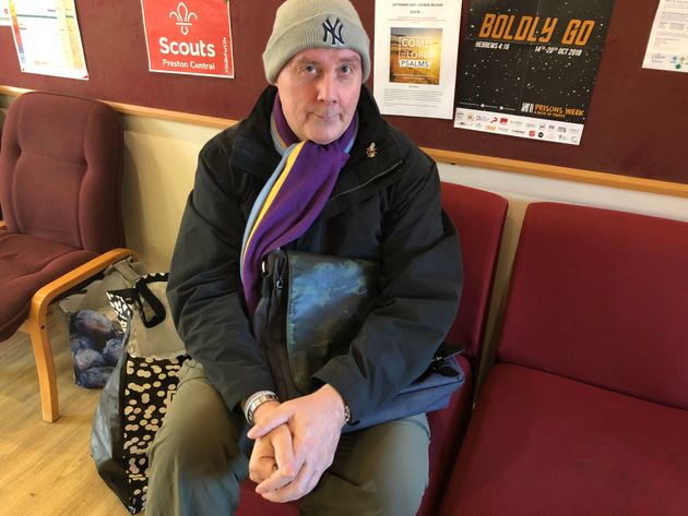Mark Schwalbe. 55, who is says he needs emergency food packages to