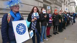 EU Citizens Make Human Chain At Downing