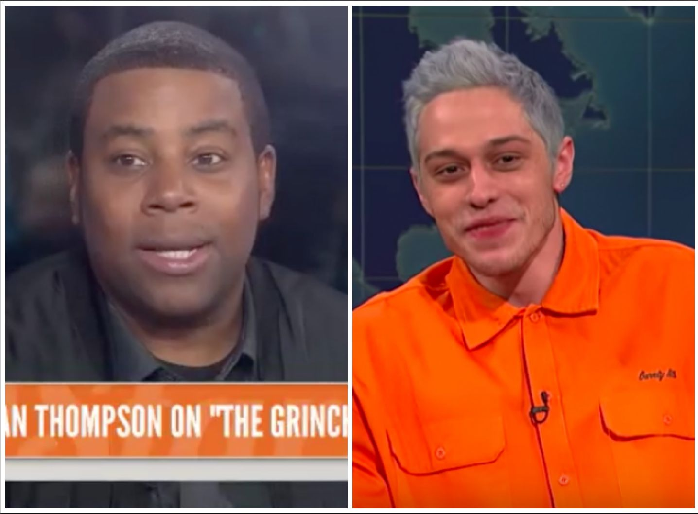 Pete Davidson and Kenan Thompson