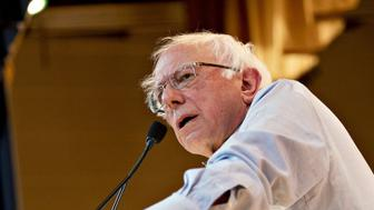 Senator Bernie Sanders, an Independent from Vermont, speaks during a campaign rally with Randy Bryce, Democratic U.S. Representative candidate from Wisconsin, not pictured, at a United Auto Workers Union Hall in Kenosha, Wisconsin, U.S., on Monday, Oct. 22, 2018. Sanders visited Wisconsin as part of a nine-state tour to give a boost to progressive candidates ahead of the November 6 midterm elections. Photographer: Daniel Acker/Bloomberg via Getty Images