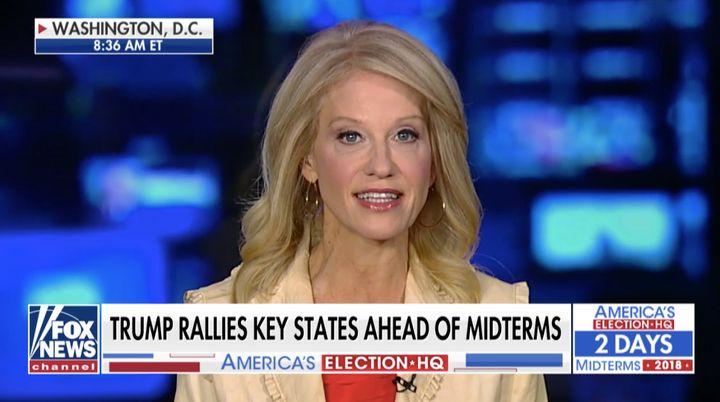"Kellyanne Conway on a segment of ""Fox & Friends"" on Sunday."