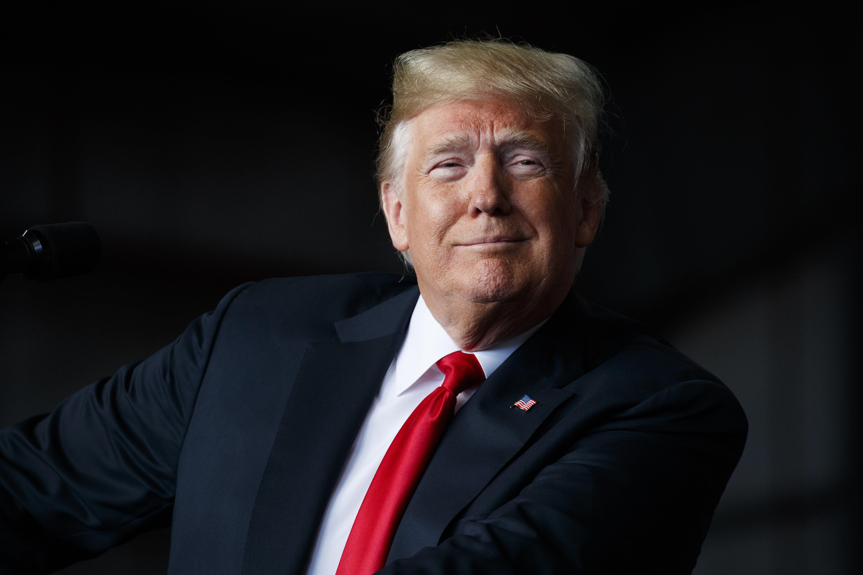 President Donald Trump speaks during a campaign rally, Sunday, Nov. 4, 2018, in Macon, Ga. (AP Photo/Evan Vucci)