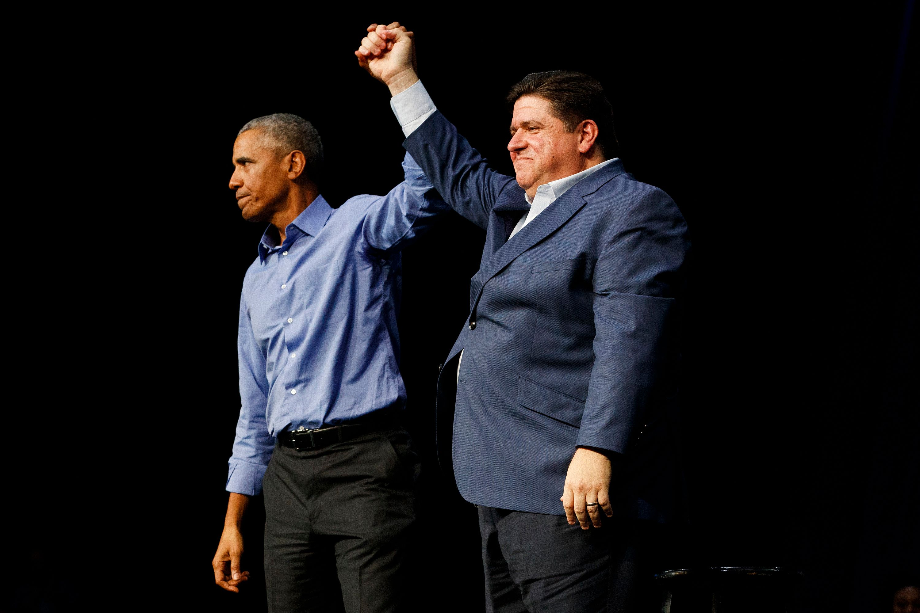 J.B. Pritzker campaigned with former president Barack Obama in the closing days of his successful gubernatorial campaign.