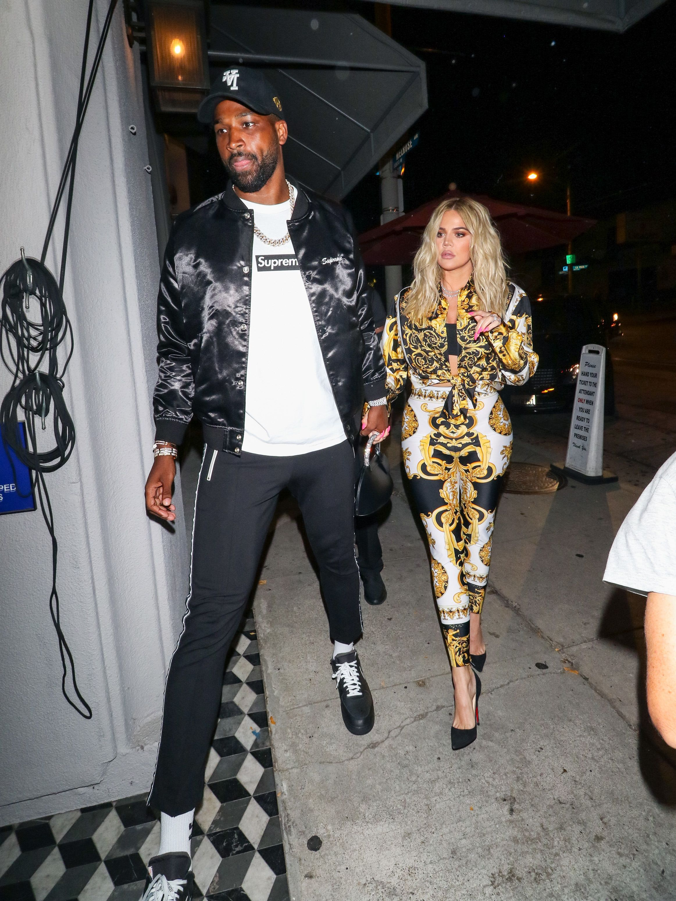 LOS ANGELES, CA - AUGUST 17: Khloe Kardashian and Tristan Thompson are seen on August 17, 2018 in Los Angeles, California.  (Photo by gotpap/Bauer-Griffin/GC Images)
