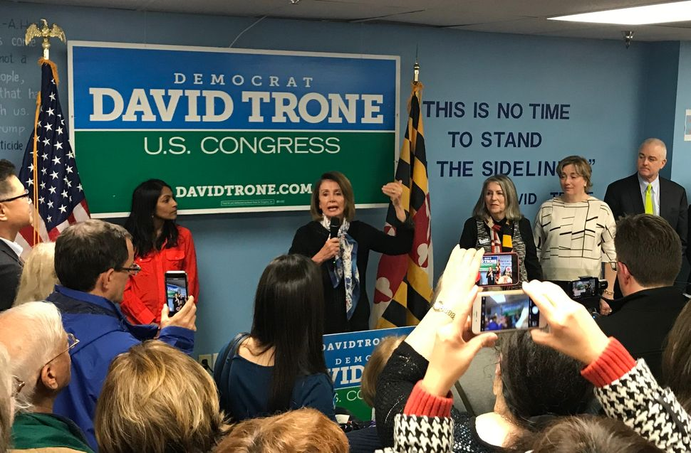 """This is the most important election of our time,"" Pelosi told attendees at a campaign event for Maryland congressional candi"