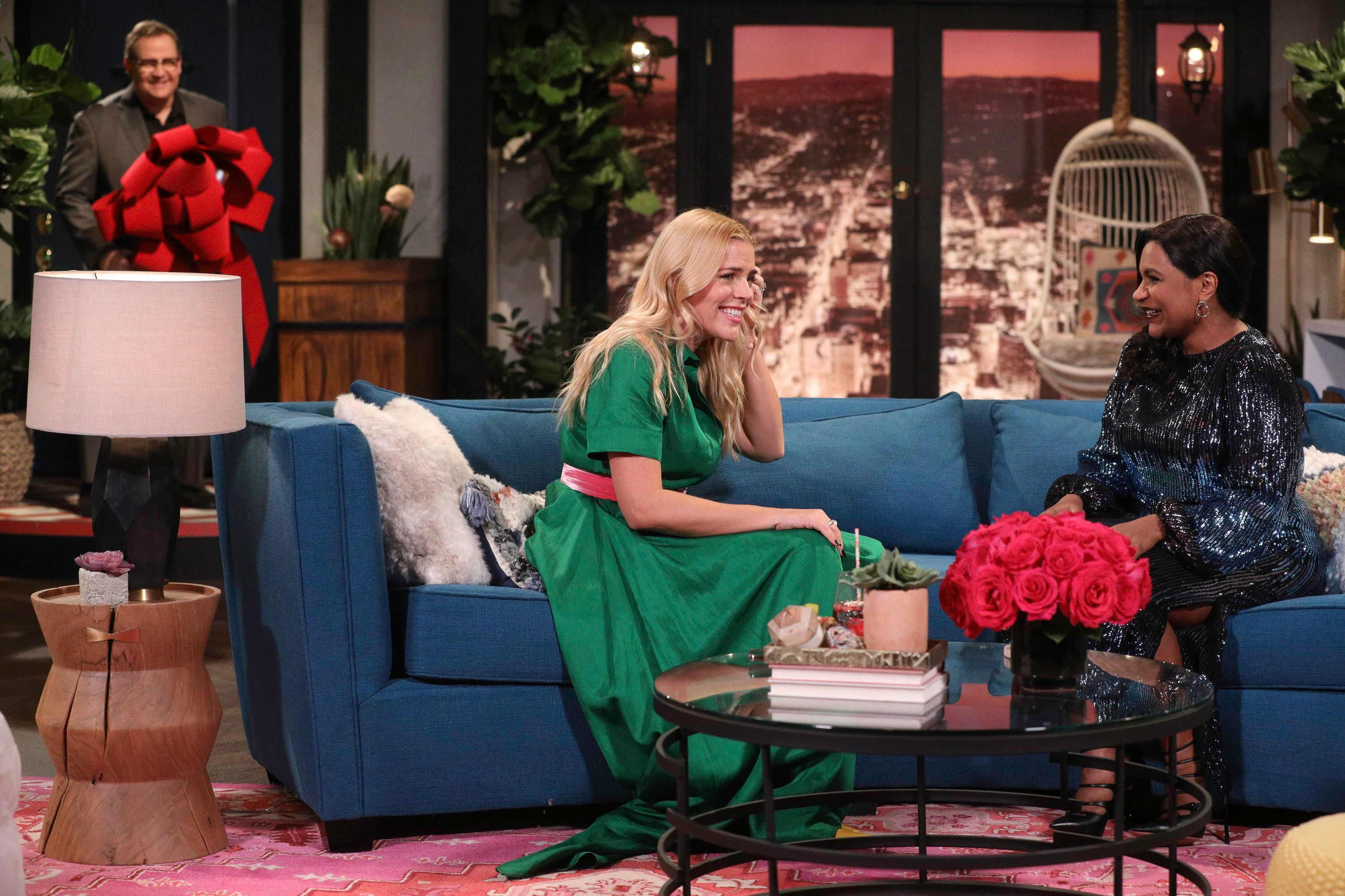 "Busy Philipps and Mindy Kaling on the premiere episode of ""Busy Tonight."""