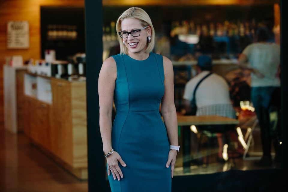 Democratic Rep. Kyrsten Sinema (above) is in a tight race for the U.S. Senate in Arizona against GOP Rep. Martha McSally.