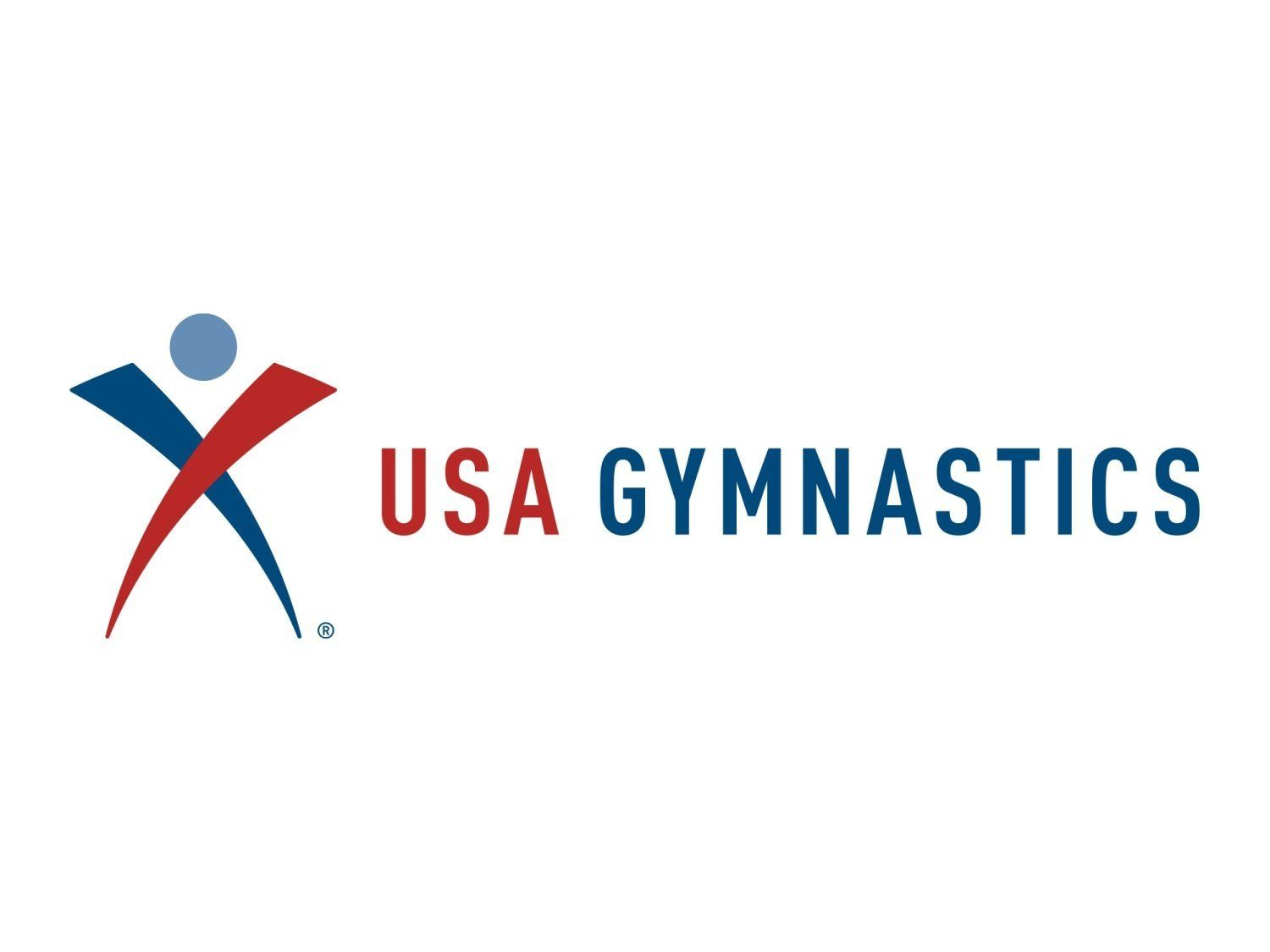 USA GYMNASTICS logo, graphic element on white