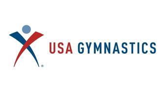 USA GYMNASTICS logo, graphic element on white