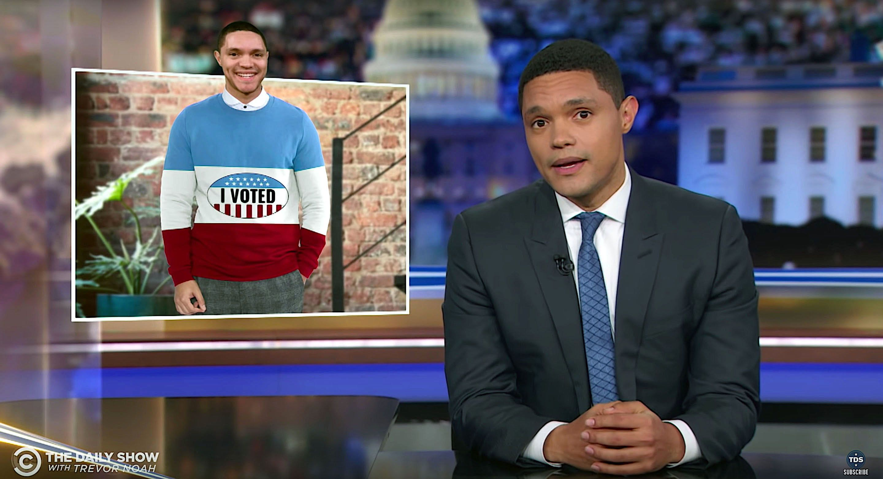 Trevor Noah says Americans need to follow Oprah's advice and vote.