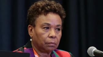 "Rep. Barbara Lee speaks during the ""Progressive While Black"" breakout session at the Netroots Nation annual conference for political progressives in Atlanta, Georgia, U.S. August 10, 2017. REUTERS/Chris Aluka Berry"