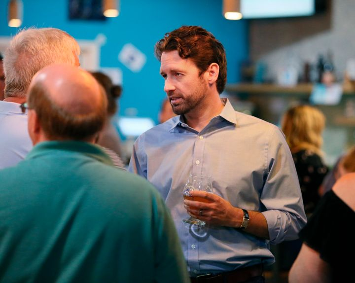 Democrat Joe Cunningham, seen here in July, on Tuesday defeated Republican Katie Arrington in South Carolina's 1st Congressio