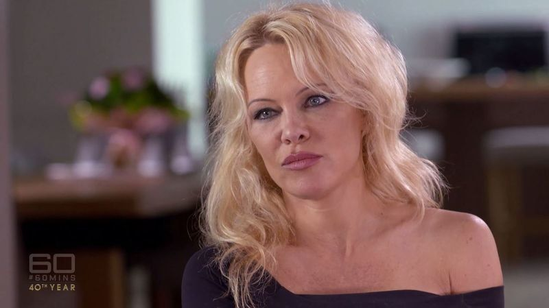 """Pamela Anderson appeared on Australia's """"60 Minutes"""" on Sunday evening."""