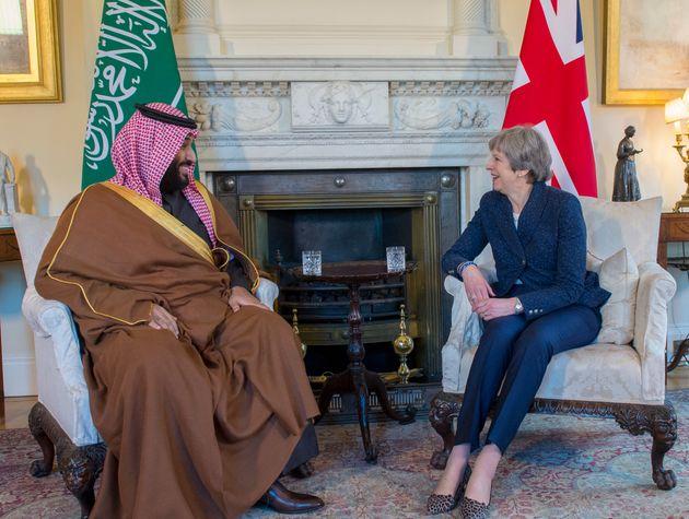 Theresa May meets Saudi Crown Prince, Mohammad bin Salman in