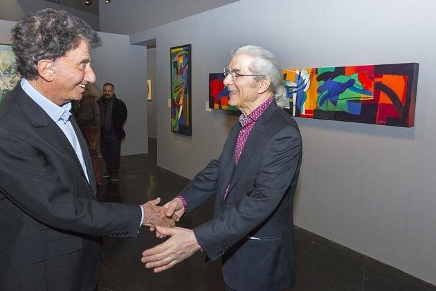 Le président de l'IMA Jack Lang et le galeriste Claude