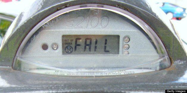 Failed street meter