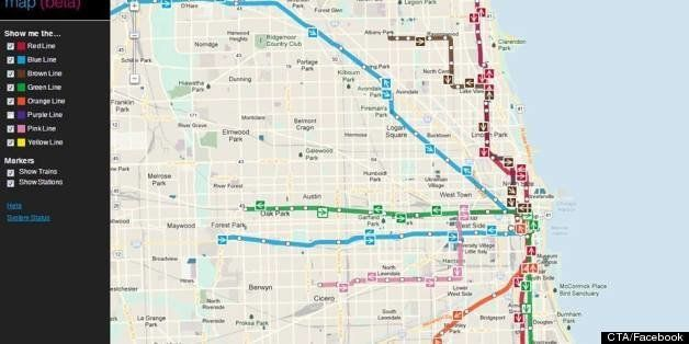 Train In Chicago Map.Cta Train Tracker Map Debuts New Chicago Train App Shows Your Route