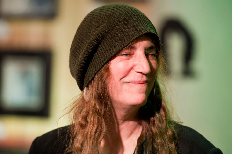 US rock singer Patti Smith is pictured during a press conference, as part of the 37th 'Le Printemps de Bourges' rock and pop