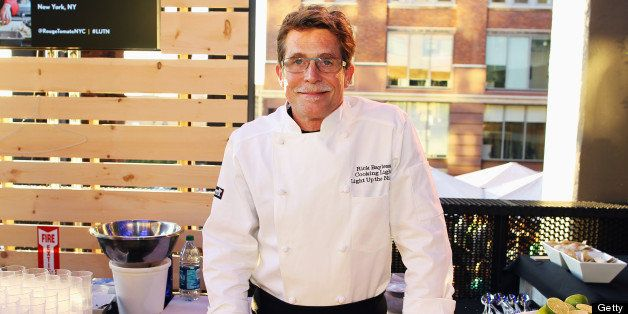 NEW YORK, NY - SEPTEMBER 21:  Chef Rick Bayless prepares at Cooking Light's Light Up The Night, presented by Citi, a celebrat