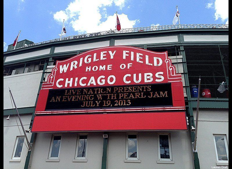 As the merch lines outside the ballpark stretched to three-hours long hours before the show, many stopped to snap up the Wrig