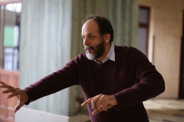 Luca Guadagnino directs a scene from