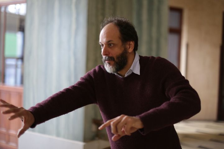 "Luca Guadagnino directs a scene from ""Suspiria."""