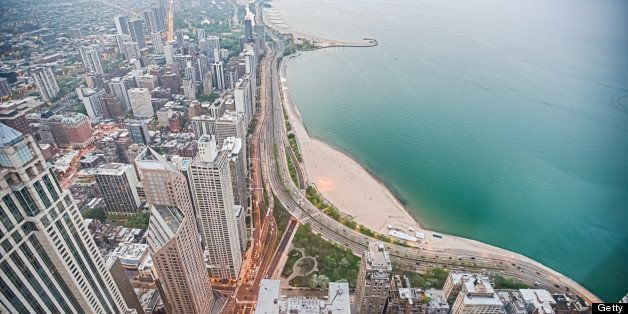 Buildings along North Lake Shore Drive in Chicago