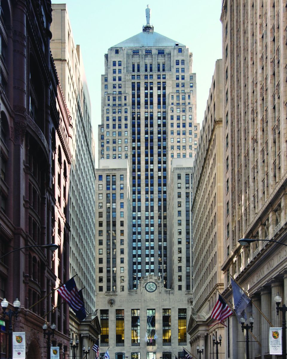 The Chicago Board of Trade Building was used as the stand-in for Wayner Tower in 2005. Building officials say in real life, t