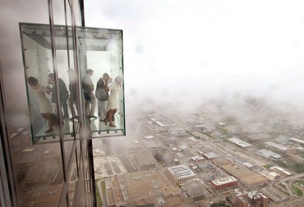 The Ledge, 1,353 feet above the ground, is one of the newish draws to the Willis Tower and provides some spine-tingling views