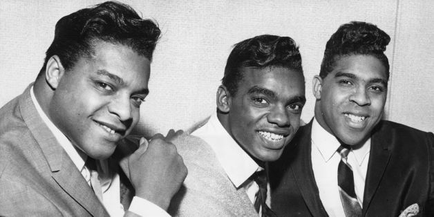 circa 1964:  American soul vocal pop group the Isley Brothers (left to right) O'Kelly Isley Jnr, Ronnie Isley and Rudolph Isl