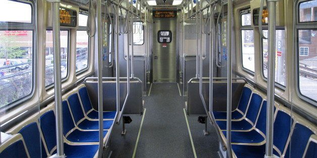 Interior of car #5005, part of CTA's new 5000-series railcars.