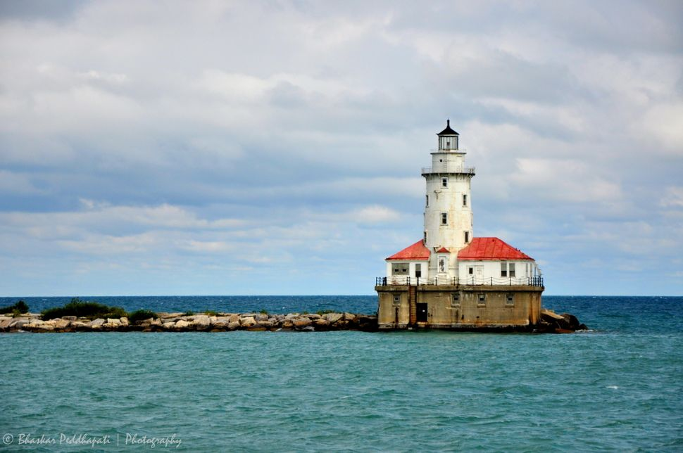 The Chicago Harbor lighthouse.