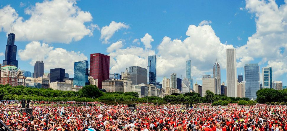 Grant Park for the Blackhawks victory rally.