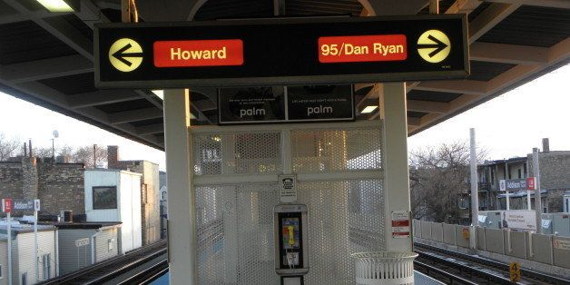 The red line runs from Howard at the extreme north end of the city to 95th Street which is as far as it goes on the South sid