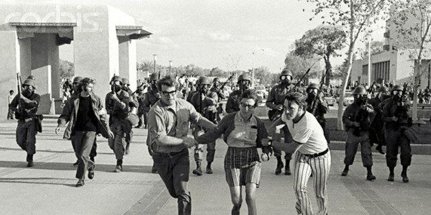 May 1970, Albuquerque, New Mexico, USA --- Following the May 4, 1970 shooting of students at Kent State University students a