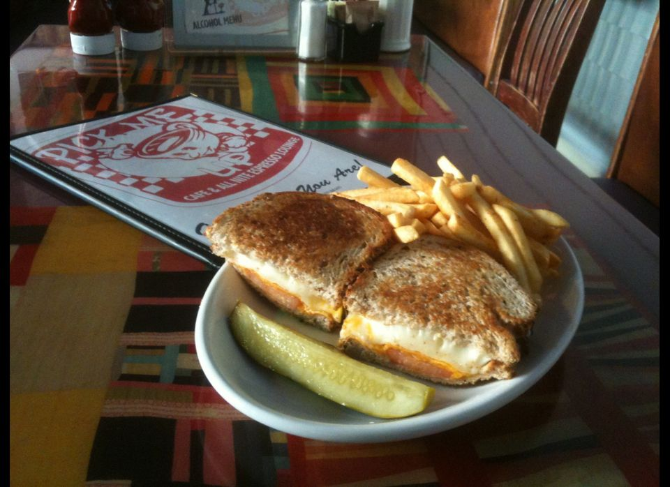 "HuffPost Chicago reader Teeny C. said the Pick Me Up Cafe has the ""hands down"" best grilled cheese sandwich in the city. Seve"
