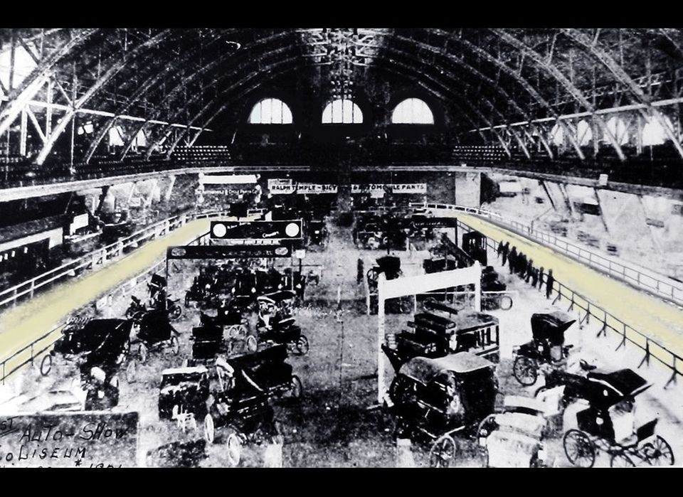 The Chicago Auto Show has come a long way. This is a photo of the Coliseum during Chicago's first official auto show, March 2