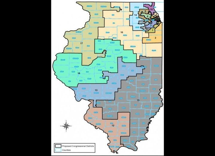 Illinois Redistricting Congressional District Maps Emerge At 11th - Us-house-of-representatives-map-by-state
