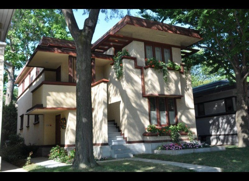 The home is one of six Frank Lloyd Wright built side by side on Milwaukee's south side.