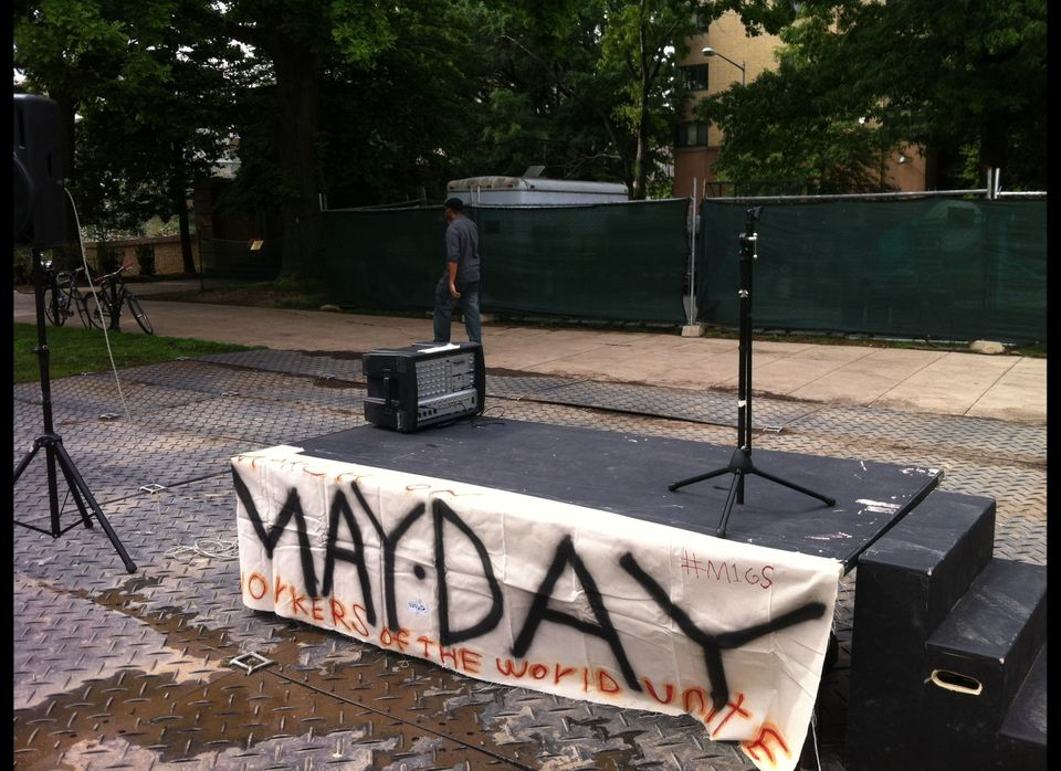 """Occupy DC May Day in Meridian Hill/Malcolm X Park. The song that being played was The Supremes' """"Baby Love."""""""