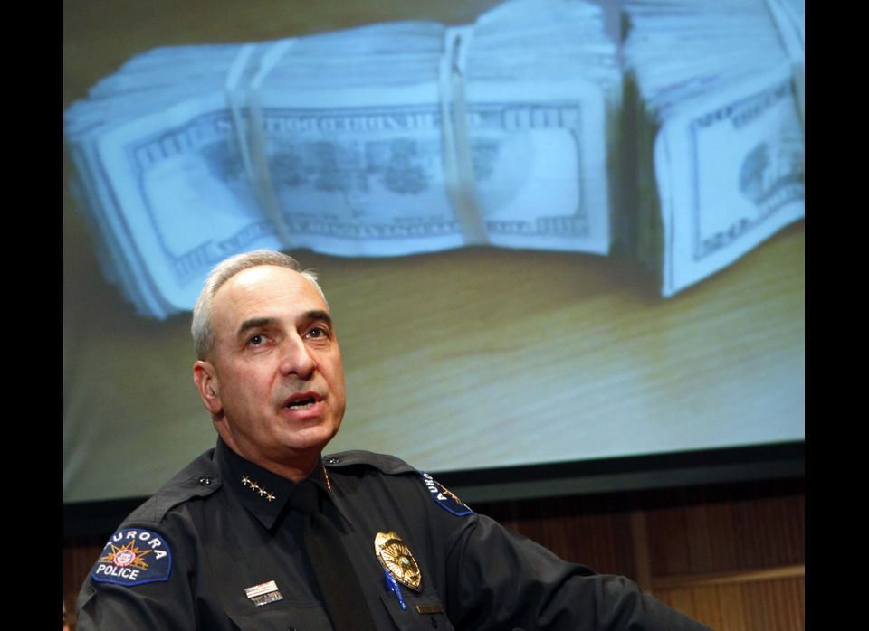 Aurora Police Chief Dan Oates speaks at a news conference in Aurora, Colo., on Thursday, Feb. 9, 2012, it was announced that