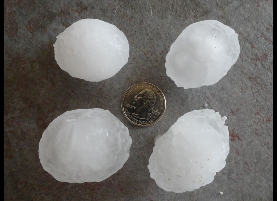 Hail reportedly seen in Parker.