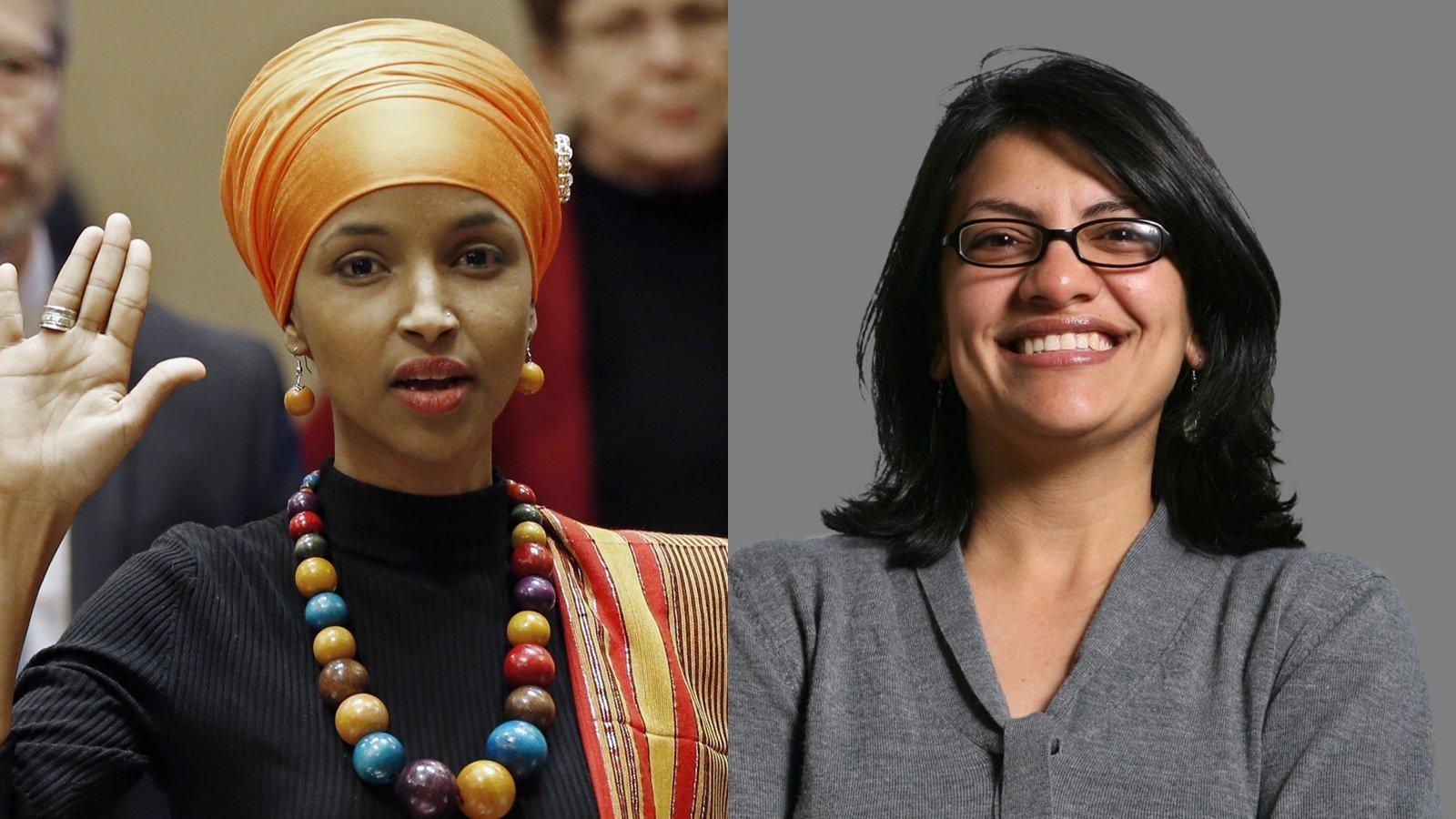 왼쪽: 일한 오마르, 오른쪽: 라시다
