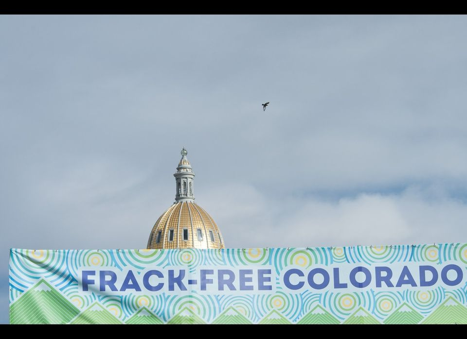 "Over a thousand people attended <a href=""http://frackfreeco.com"" target=""_hplink"">Frack Free Colorado</a> this Tuesday to cal"