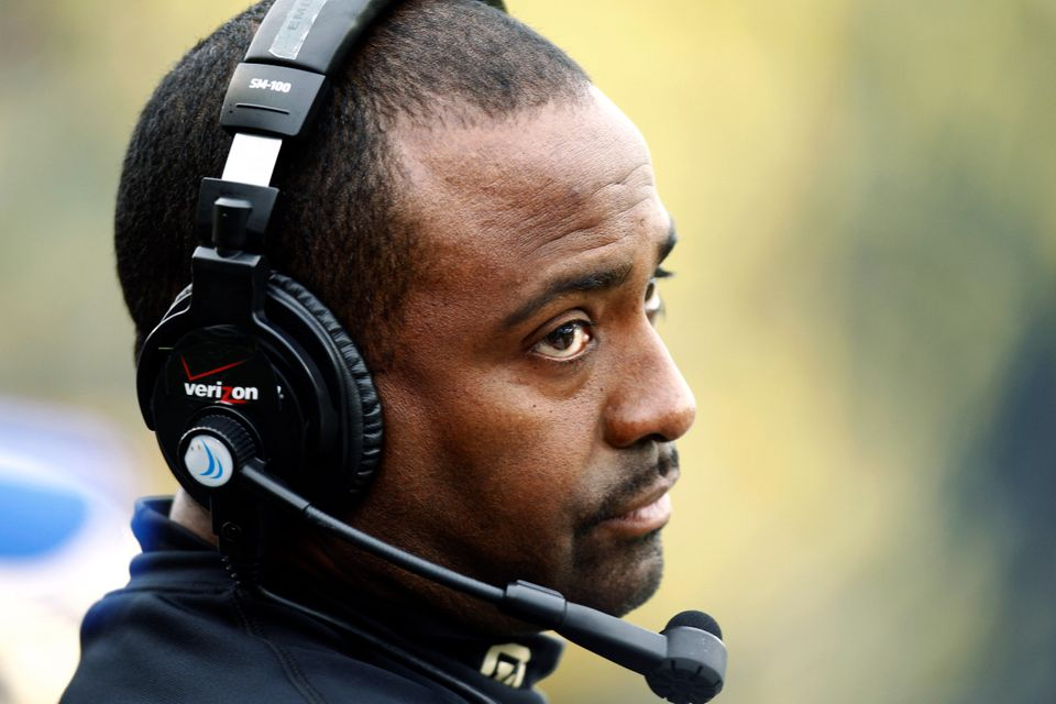 FILE - In this Oct. 27, 2012, file photo, Colorado head football coach Jon Embree appears during their NCAA college football